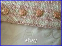 12 STAMPED Authentic Chanel Buttons lot of 12 peach gold