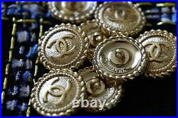 12 Stamped Chanel buttons lot of 12 cc logo 20 mm 0,8 inch gold