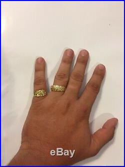 14k And 10k Gold Ring Lot. Real Gold Stamped. Not Filled Or Plated. REAL Nugget