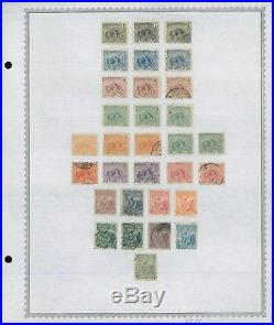 1887-1947 French Guiana Mint & Used Stamp Collection on Album Pages Value $1,285