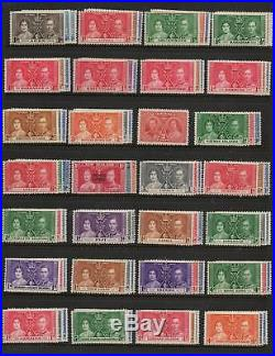 1937 Coronation complete omnibus mounted mint & fine used sets 404 stamps superb