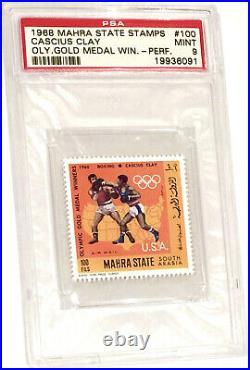 1968 Cassius Clay Hof Psa 9 Mint Olympic Mahra Turkish Stamp Rare