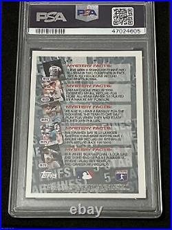 1996 Topps Baseball KEN GRIFFEY JR 5-STAR REFRACTOR, MINT PSA 9, Mariners HOFER