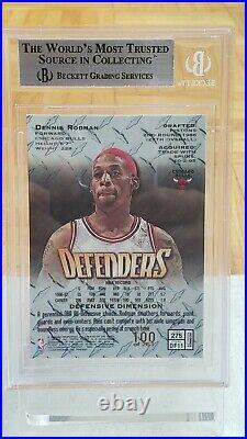 1997-98 Topps Finest #275 Dennis Rodman Defenders Silver Embossed Refractor /263