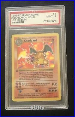 1999 Pokemon 1st Edition Charizard Shadowless Holo PSA 9 Mint Thick Stamp
