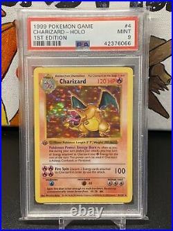 1999 Pokemon Base Set Thick Stamp 1st Edition Holo Charizard #4 PSA 9 MINT