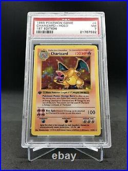 1999 Pokemon Charizard PSA 7 NEAR MINT 1ST EDITION BASE SET THICK STAMP