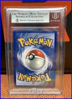 1st Edition 1999 Base Set Pikachu Ghost Stamp Error BGS Pokemon Card Mint 58 PSA