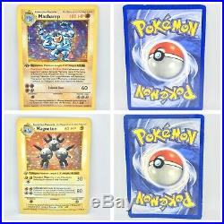 1st Edition Shadowless Base Set 15/16 Holos Minus Charizard Lot Thick Stamps