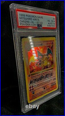 1st Edition Shadowless Charizard Psa 4 Gem Mint 10 Auto Thick Stamp