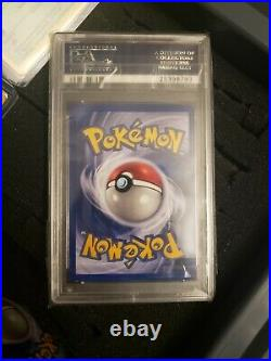 1st edition thick stamp PSA 9 shadowless charizard pokemon card lot