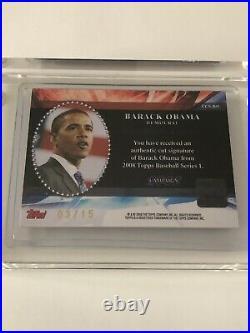 2008 Topps Campaign Barack Obama Cut Signature Autograph Card #3/15 Ccs-bo