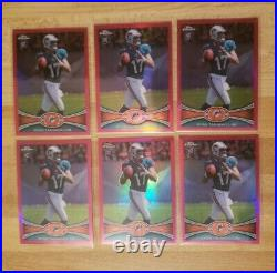 2012 Topps Chrome Pink Refractor /399 Ryan Tannehill Rookie Lot X6 MINT CENTERED