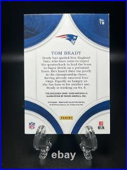 2016 Immaculate Tom Brady GAME WORN JUMBO PATCH SSP 6/15