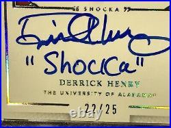 2016 Nat Treasures Nicknames SHACKA Auto DERRICK HENRY RC 22/25 JSY # 1/1 2K