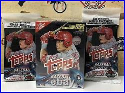 2018 Topps Series 1 Baseball EXCLUSIVE Sealed Blaster Box + (2) Fat Packs