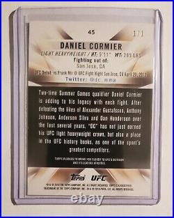 2018 Topps UFC Knockout Daniel Cormier Gold 1/1