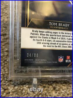 2019 Tom Brady Select Field Level Dragon Scale Prizm #34/88 BGS Gem Mint 9.5