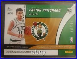 2020-21 Payton Pritchard ROOKIE CARD With O-C Sticker AUTO SP /100 Fractal #RA-PP