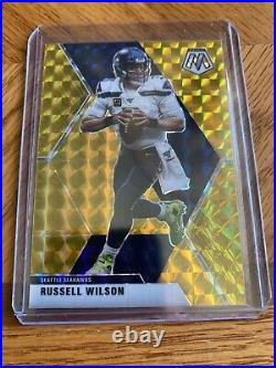 2020 Mosaic Russell Wilson Gold Prizm 3/10 SSP RARE! Jersey Number