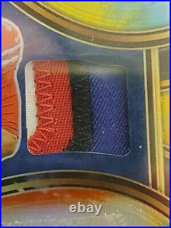 2020 Panini Select Tie-Dye Prizm Josh Allen 4-Color Patch Auto /15 Buffalo Bills
