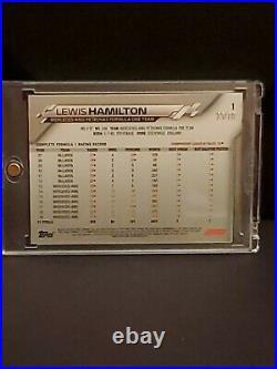 2020 Topps Chrome Sapphire Formula 1 Lewis Hamilton Image variation #1 70th /70