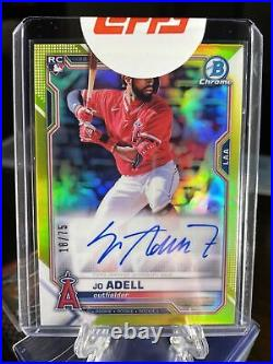 2021 Bowman Chrome JO ADELL Rookie Auto Yellow Refractor /75 #CRA-JA Angels RC