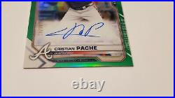 2021 Bowman Chrome Rookie Auto Cristian Pache Green refractor parallel #/99