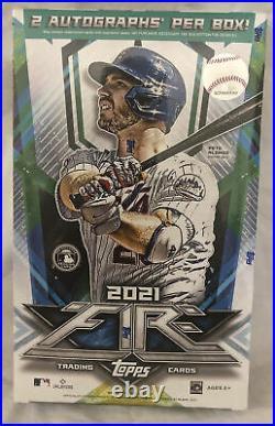 2021 MLB Topps Fire Baseball Factory Sealed Hobby Box 2 Autos Per Box