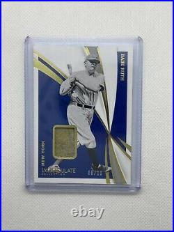 2021 Panini Immaculate BABE RUTH Gold Game Used Memorabilia Patch #/10 HOF SSP