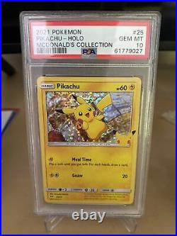2021 Pokemon McDonald's Collection #25 Pikachu Holo PSA 10 GEM MINT