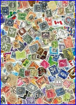 5 Full Pounds Worldwide Stamps Used Off Paper Some Mint