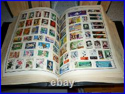5 Thick Vintage Postage Stamp Albums Filled With Stamps Worldwide Collection Lot