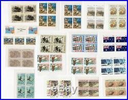 AUSTRALIA STAMPS $238 Face Value FULL GUM MINT BLOCKS/BOOKLETS use for POSTAGE