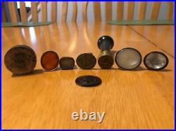 Antique Nautical Wax Seal Intaglio Stamp Lot