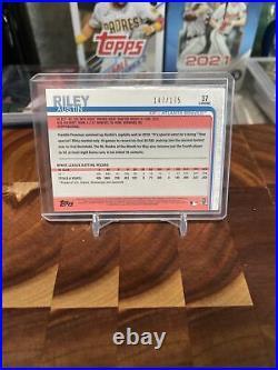 Austin Riley RC 2019 TOPPS CHROME PURPLE REFRACTOR 147/175