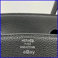 Authentic Hermes Birkin 30 Togo Noir Palladium Set Stamp C (2018) Mint Condition