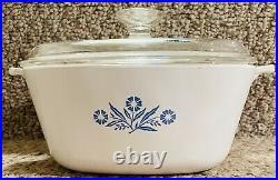 Authentic Vintage Retro Corning Ware Cornflower 2 1/2 Qt P-2 1/2-b Stamped Mint