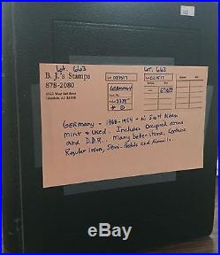 BJ Stamps Germany collection 1868-1954 in Scott album, Mint & used cat. $3339