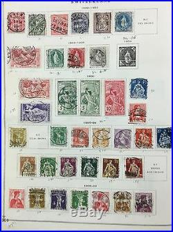 BJ Stamps Switzerland, 1855-1962, in folder, used & mint.'17 Scott $830