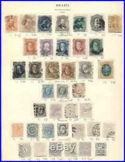 BRAZIL Collection 1843-1919, on Scott pgs, Mint & Used, Scott $3,688.00