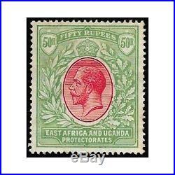 British East Africa 1912 stamps 50 rupias carmin/green mint no gum SG. 61a -F591