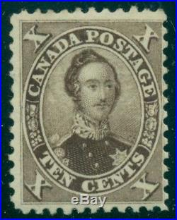 CANADA #17b 10¢ brown, mint hinged, very nice for this scarce stamp, Scott $2,00