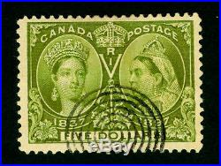 CANADA 1897 JUBILEE issue $5 green Sc# 65 used XF stamp a beauty