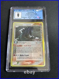 CGC 9 Mint Tyranitar 16/113 Reverse Holo EX Delta Species Rare Pokemon Card