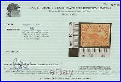 Canada 1852 Pence Beaver 3d'Ribbed Paper' #4iii Mint no gum VGG cert