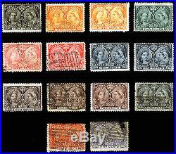 Canada #50-#60 Jubilee 1897 Victoria Diamond Jubilee Mint & Used Lot 14 items