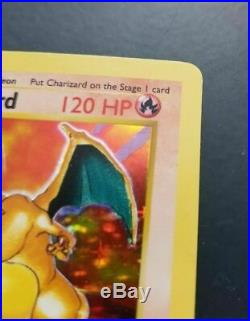 Charizard 1st Edition Shadowless Near Mint Base Set 4/102 Thin Stamp Pokemon