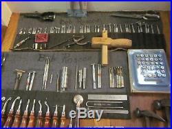 Craftool CS Osborne Leather Punch Stamp & Tool Lot Saddle Maker Cobbler FreeS&H