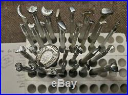 Craftool USA Leather Stamps Lot of (29) pcs. NICE! Look$1 ea bid or $4 ea NOW